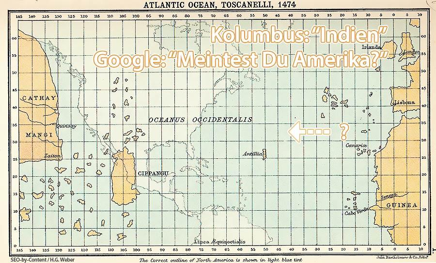 Atlantik Kolumbus Karte